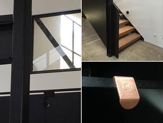 Handmade Copper and  handcrafted angles make a lightfilled space embrace wabi sabi.