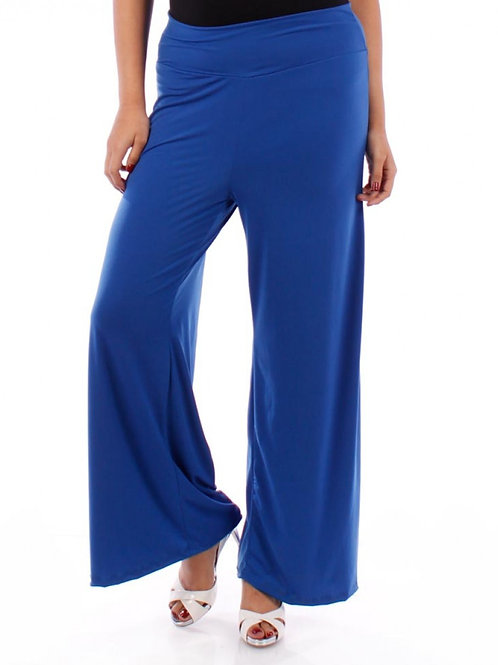 Solid Blue Palazzo Pant