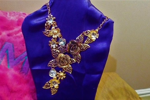 Floral Vine Necklace/Earring Set