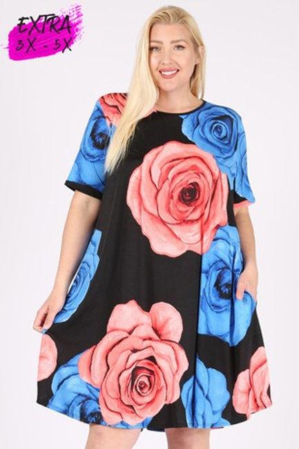 LOVEY FLOWERS DRESS