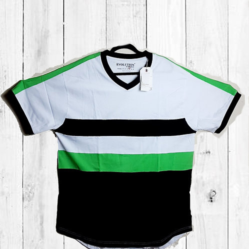 GREEN, WHITE, & BLACK TEE