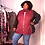 Thumbnail: Red Quilted Jacket