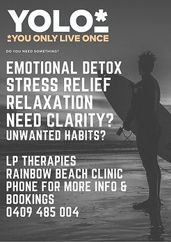 LP Therapies, you only live once, hypnotherapy, stress relief, relaxation and clarity