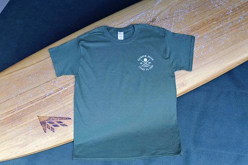 Rainbow Beach Learn to Surf 2020 T-Shirt Military