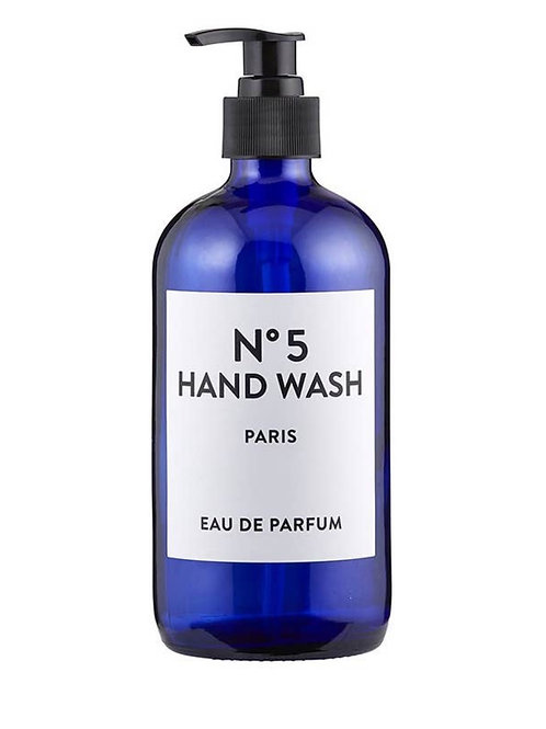 Blue Glass Hand Wash Bottle