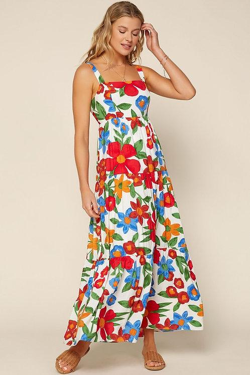 Vibrant Floral Maxi Dress