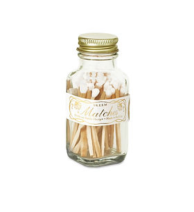 candle matches bottle cloche