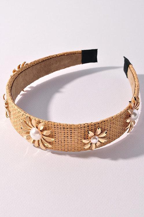Daisy Raffia Headband