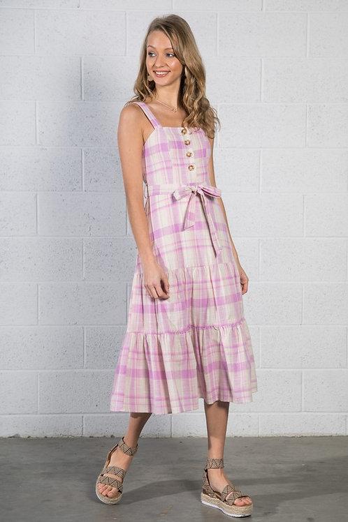 Lavender Plaid Dress