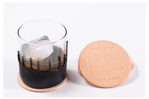 Manready Mercantile Leather Coasters