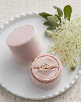 velvet ring box engagement gift