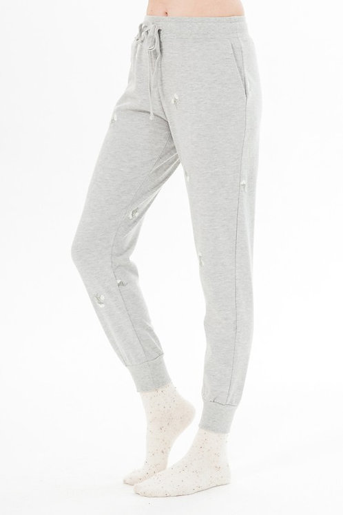 Bloom Embroidered Sweatpants
