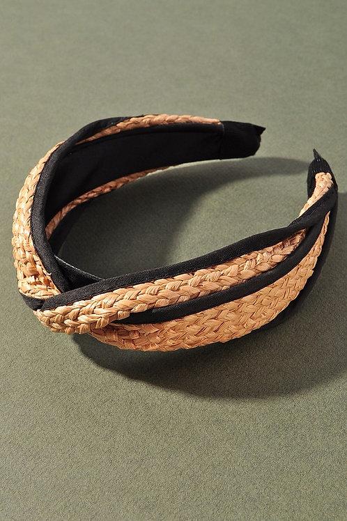 Raffia Black Border Headband