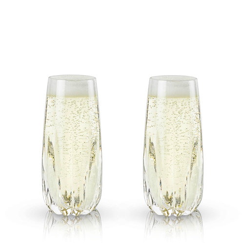 Raye: Crystal Cactus Champagne Flutes by Viski