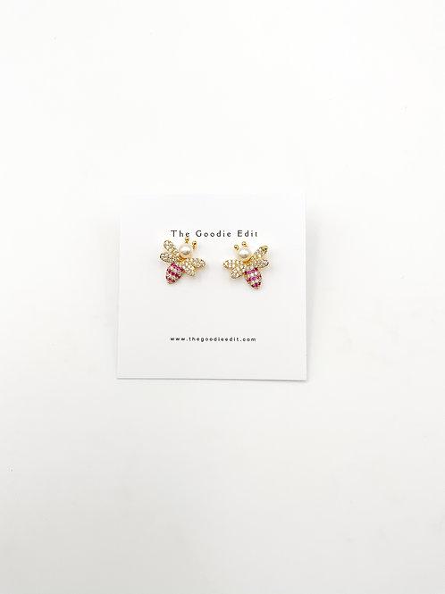 Pearl BEE Stud Earrings
