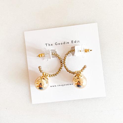 Mocha and Gold Mini Hoops