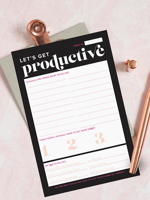 Let's Get Productive Notepad