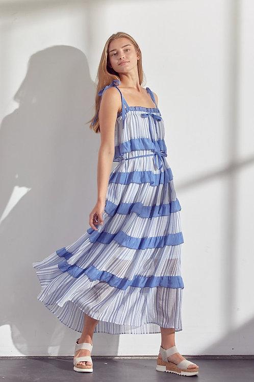 Ocean Dream Ruffle Dress