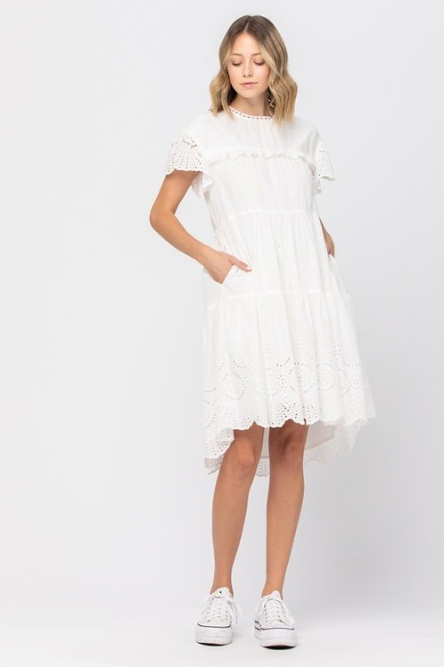 Eyelet Swing Dress