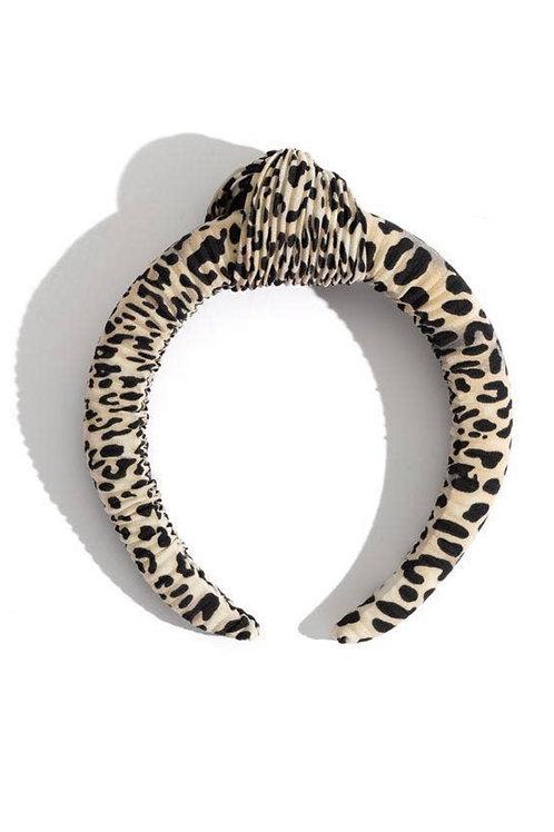 Top Knot Leopard Headband