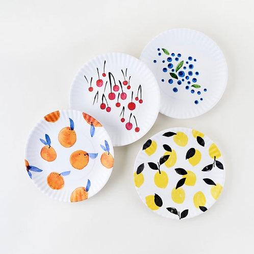 Fruity Melamine Plates Set 4