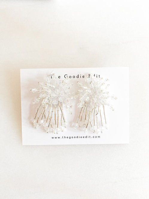 Glass Bead Party Stud Earrings
