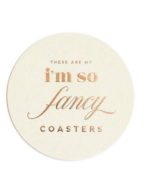 I'm So Fancy Foil Coasters