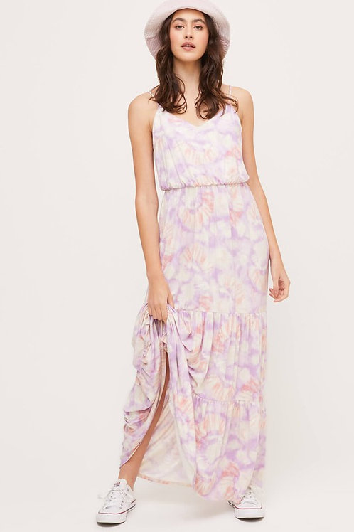 Tie-dyed Tiered Maxi Dress