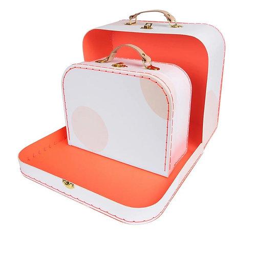 Pink Suitcase Set