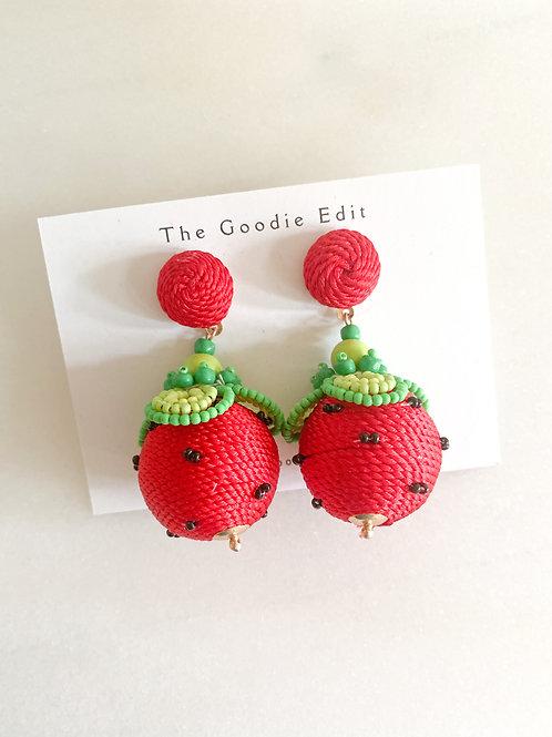 Watermelon Ball Drop Earrings