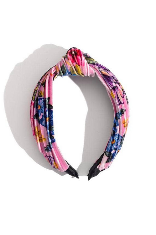Top Knot Floral Headband