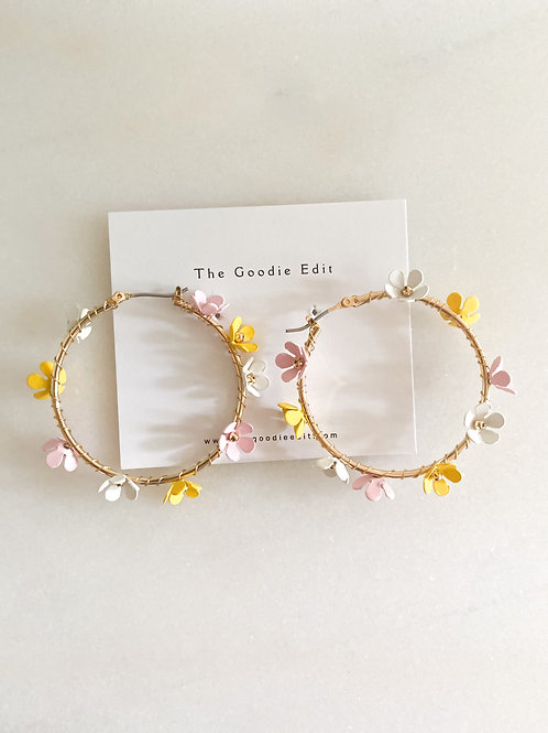 Flower Wrapped Hoops