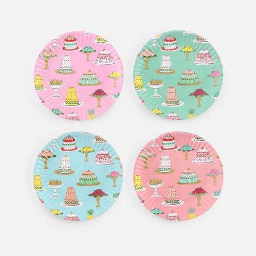Tea Treats Melamine Plates Set 4