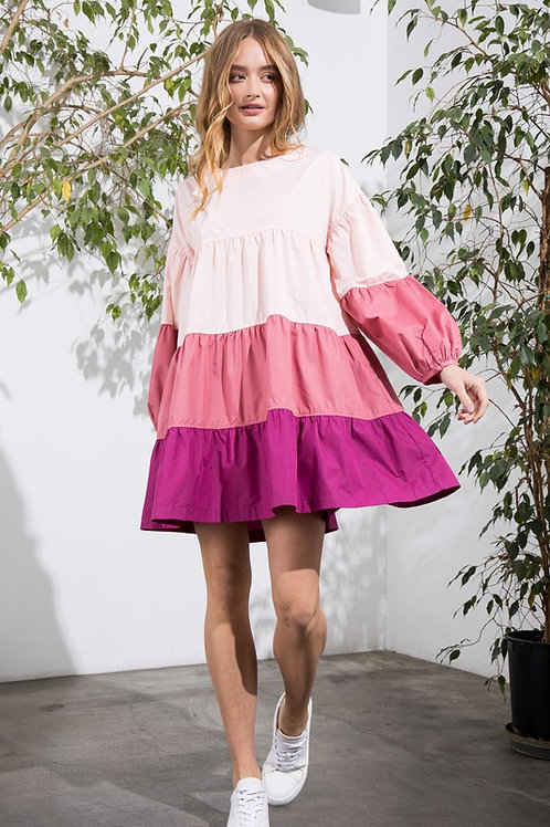 Raspberry Swing Dress
