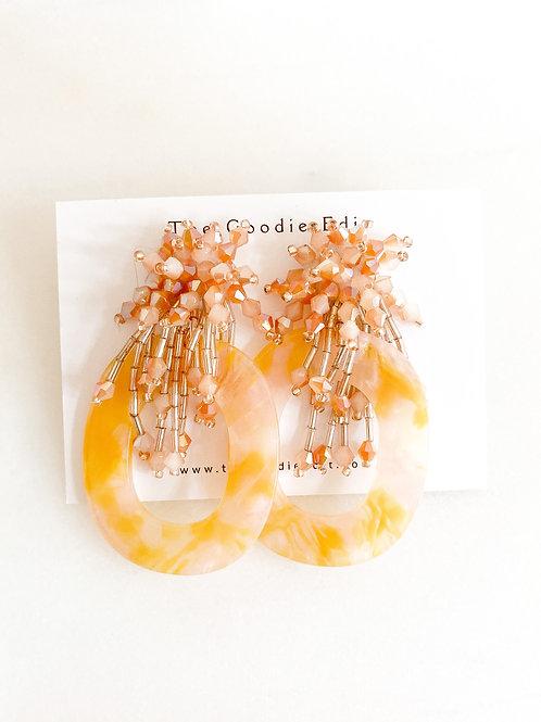 Glass Bead Party Drop Earrings