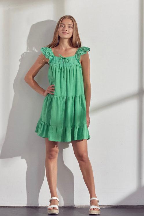 Jolly Green Twirl Dress