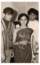 Nitin-Mangesh with 'Samanta' actress Sneha Lata.