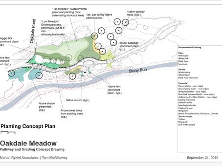 Progress Report on Stony Run Oakdale Meadow Plans