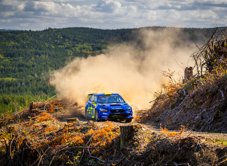 Oliver Solberg and Denis Giraudet Lead DirtFish Olympus Rally After Day 1