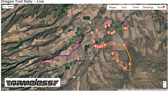 ARA Live Position Tracking Screenshot