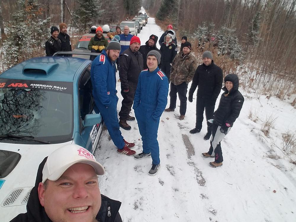 A rally selfie of Nemadji competitors taken by Al Dantes Jr.