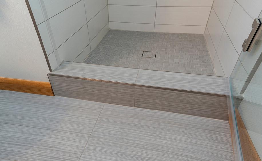 Bathroom Renovation | Floor & Shower Tile Detail