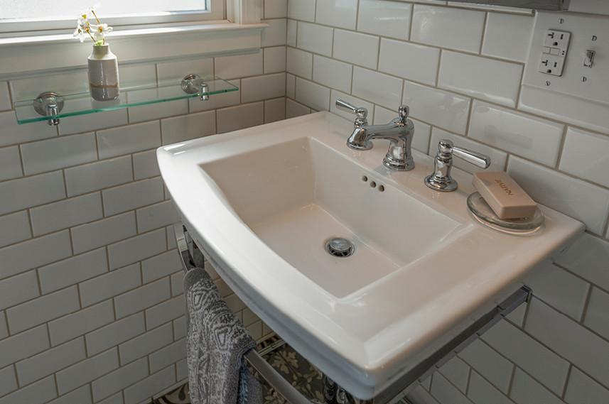 Home Remodel  |  Bathroom  |  Tile walls
