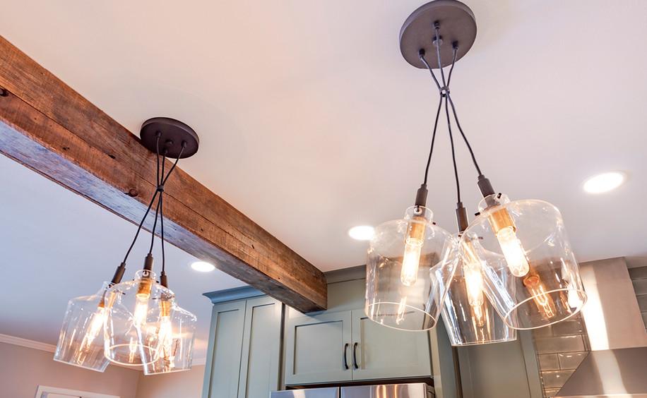 Kitchen Renovation   Pendant Lighting & Structural Beam