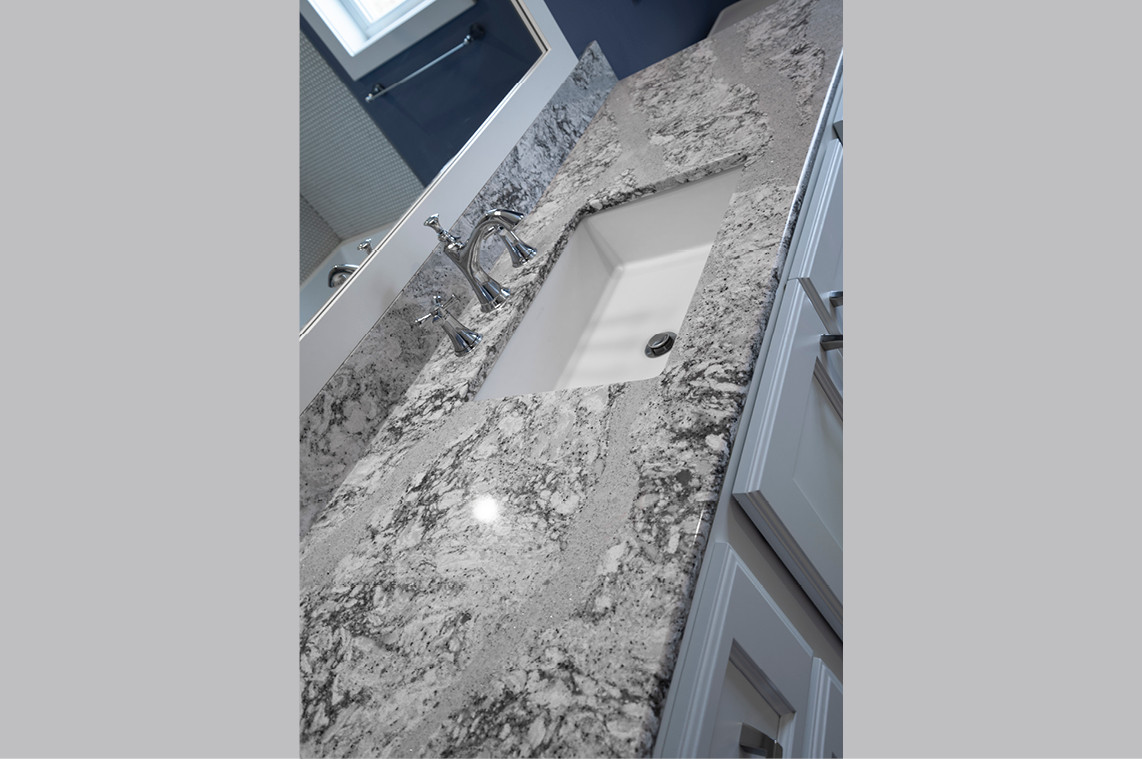 New Construction  |  Bathroom Counter Detail