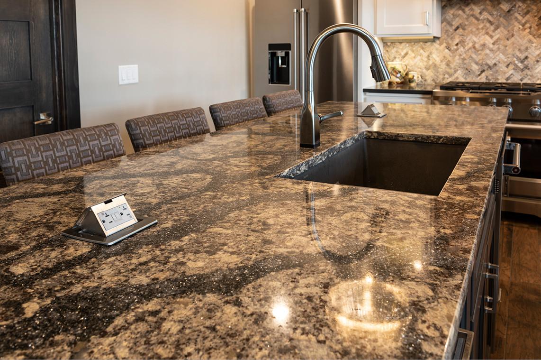 Main Floor Kitchen - Quartz Island