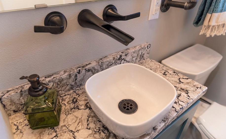 Bathroom Renovation   Sink & Quartz Detail