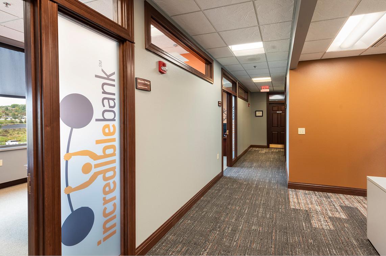 Incredible Bank -Wausau Branch Remodel     Office Hallway