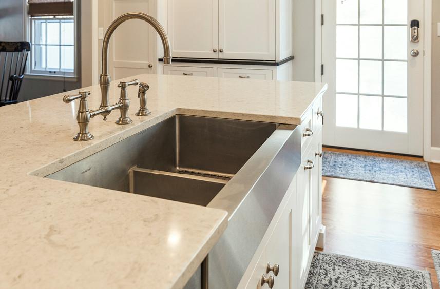 Home Remodel  |  Kitchen  |  Farmhouse sink detail