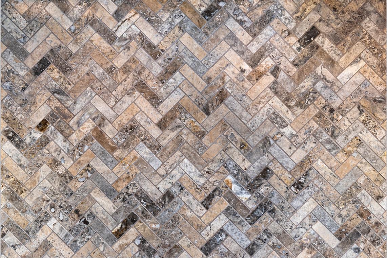 Herringbone Tile Pattern Detail